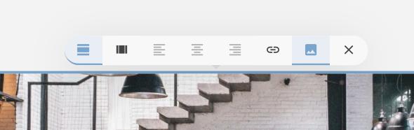 Image editor toolbar