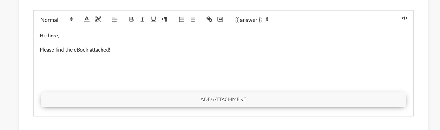 Attach file to custom email