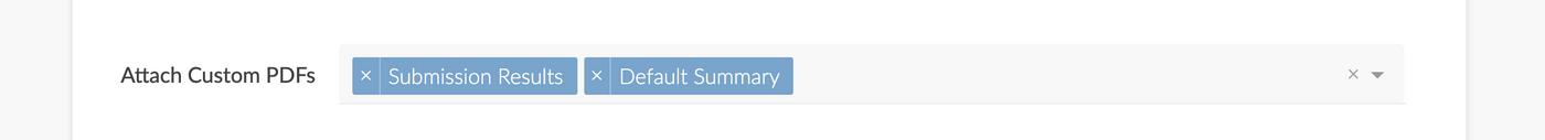 Attach custom PDFs