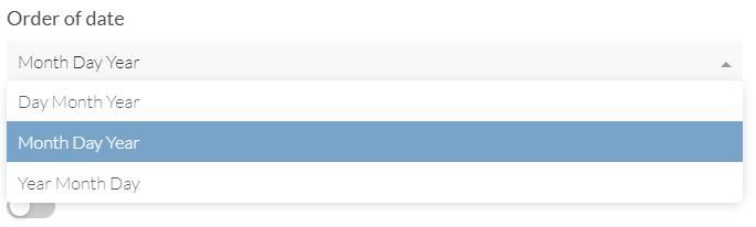 Date question format
