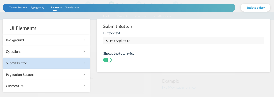 Guided mode submit configuration