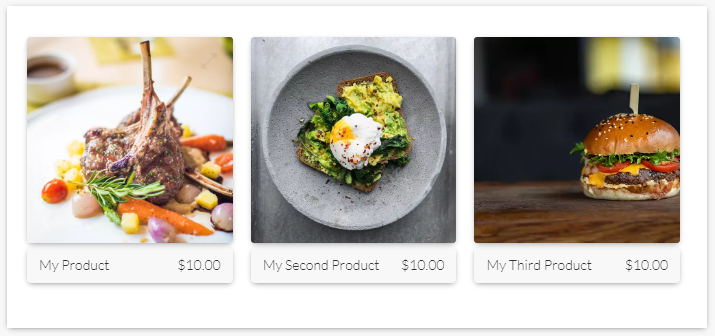 Product gallery layout