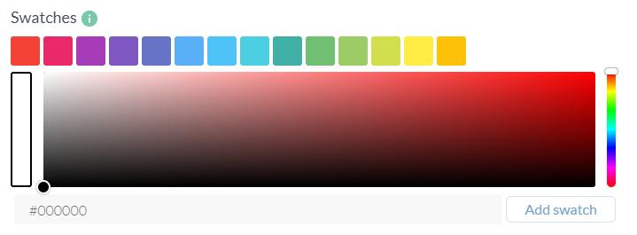 Color picker configuration