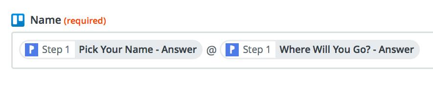 Pick answer fields